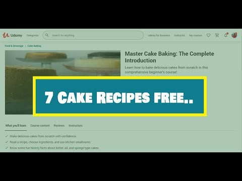 FGp9716M34305tTKDNENU jSxLUrdKBt4Bn4i CbrsE - Learn how to make cake from scratch with this free course that gives away 7 recipes - home, hobbies