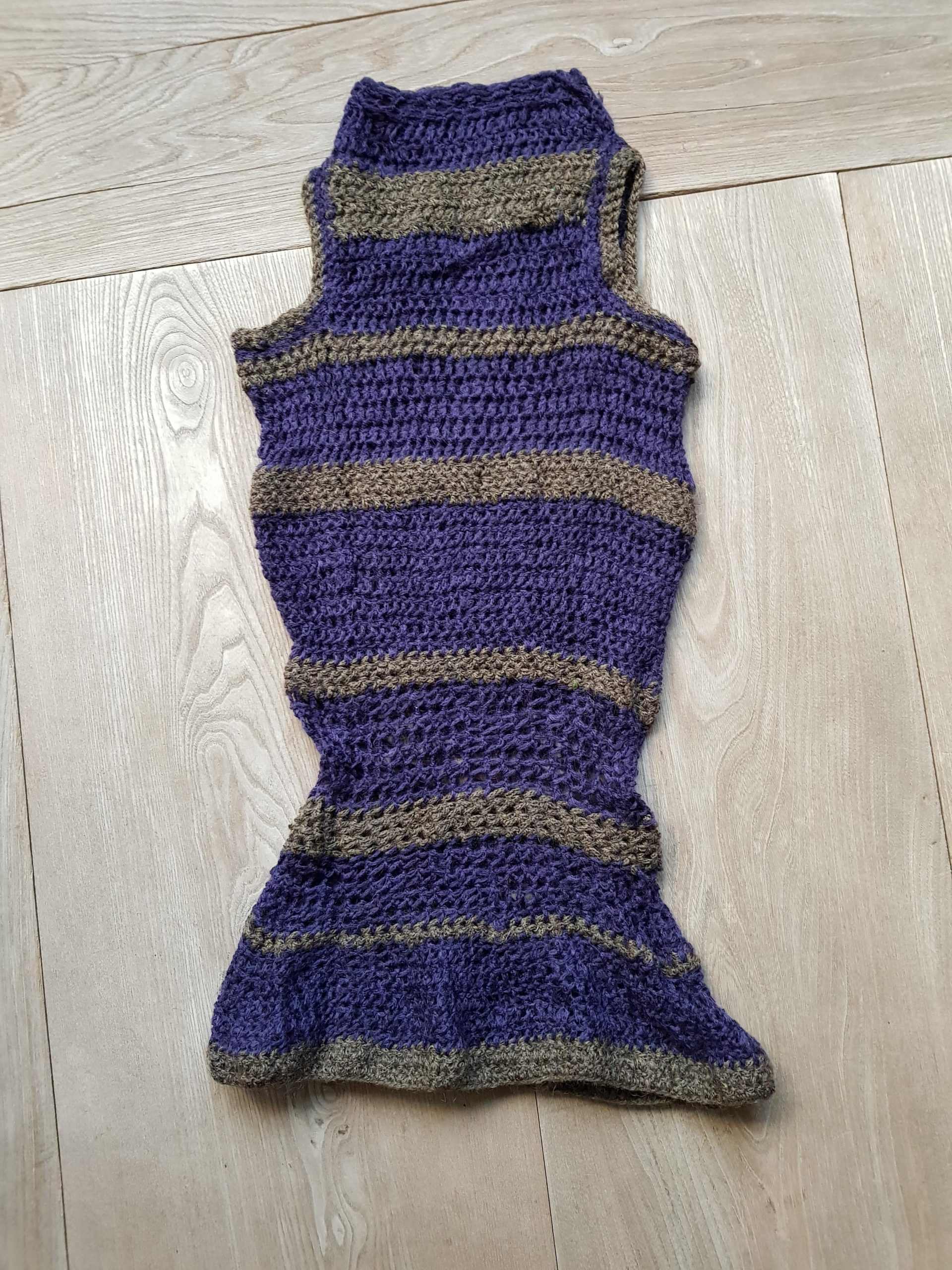 bqivc5dp8tr51 scaled - Some years ago I crocheted this slipover using left over yarn - hobbies, crafts