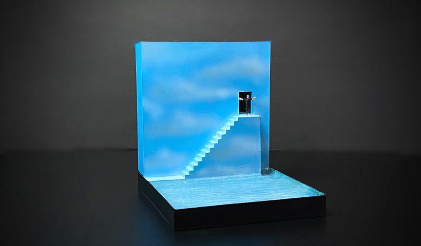 c8p9v8z9xut51 820x480 - Hand made a little Truman Show diorama. - hobbies, crafts