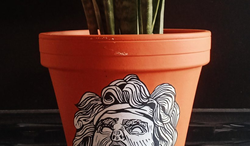 e9wglgu99ur51 820x480 - Painted this terracotta pot - hobbies, crafts