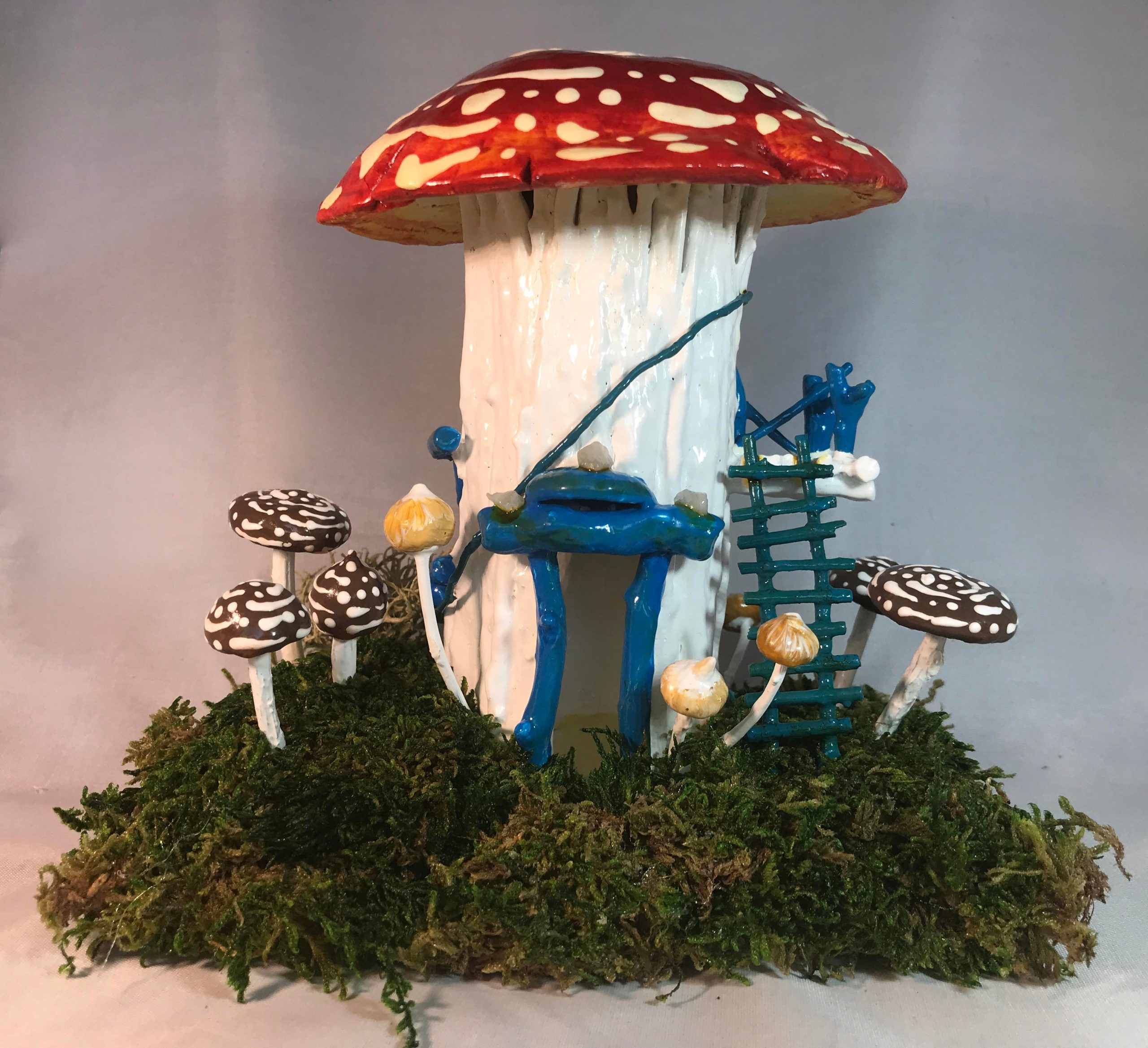 g1rod1gd1wr51 scaled - Fairy House with Amanita Muscaria cap for roof - hobbies, crafts