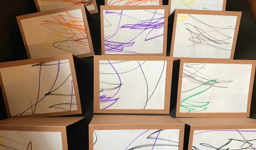hsrdtz0c1xt51 820x480 - Hello everyone, my wife took our 2 year old's art and made them into thank you cards (for his recent bday! I think they came out pretty neat...or maybe I'm just being a proud dad! Thanks for looking! - hobbies, crafts