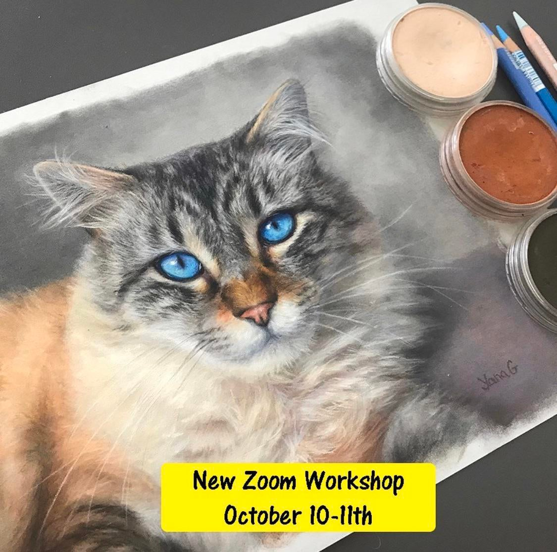 ndo1du2055p51 - In this 2 day workshop I'll teach you how to create realistic pet portrait with pastel. - home, hobbies