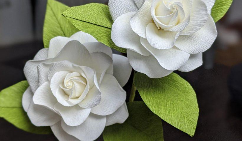 34yoe7d1h8061 820x480 - Gardenias I made from paper - hobbies, crafts
