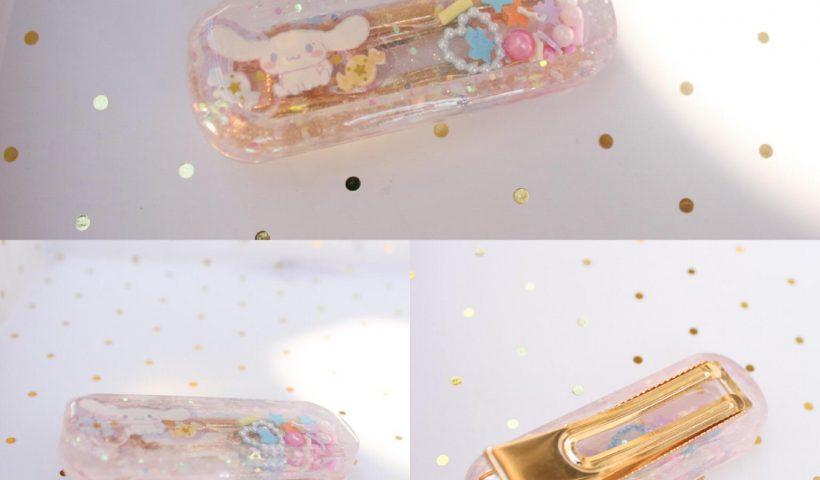 3b7addcji3y51 820x480 - Handmade resin shaker hair clip <3 loving pastels - hobbies, crafts