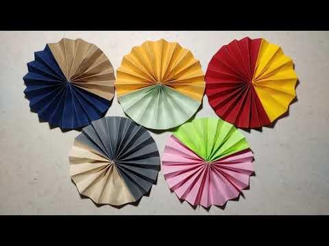 Aj8NfSTXFU  2HpKfD2Pt57pfpgnCheIkDNIit I2Og - colorful DIY paper pinwheel craft for wall decoration - hobbies, crafts