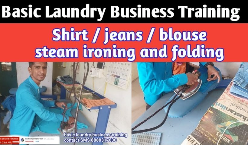 1608451710 maxresdefault 820x480 - Basic laundry business training, steam ironing & folding. - training, business