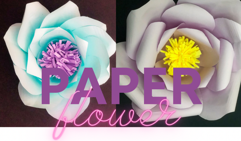 8nettaoeuc161 820x480 - Learn how to make big paper flowers - hobbies, crafts