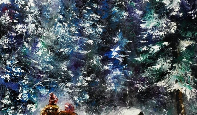 r5zlxskm30561 820x480 - Hello everyone! Here is my painting for Christmas that I painted recently! The painting is 27'' x 20'', oil on canvas. Hope you will like! - hobbies, crafts