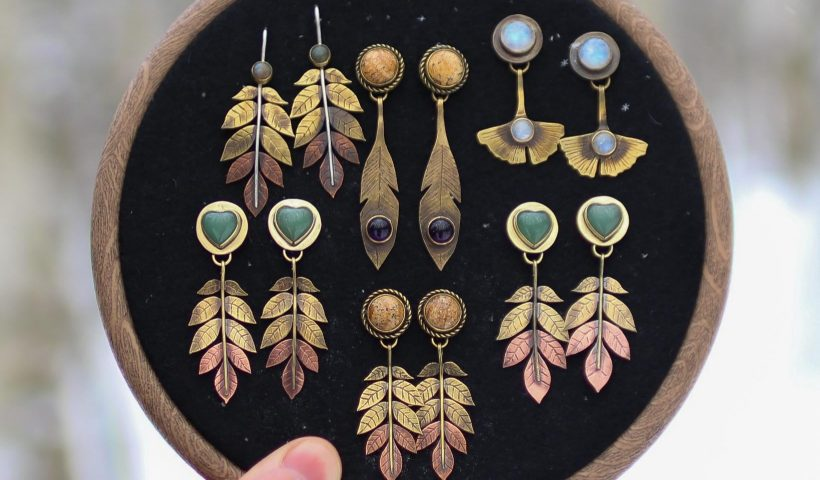 4xwd2c3od4e61 820x480 - Brass and copper earrings that I've made - hobbies, crafts