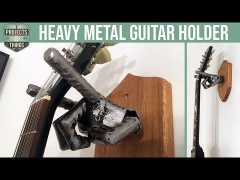 WsaW986D3SQ0hiILi0Q3lhswvaTKFGIdHL jDFQB Ps - Upcycling Scrap Metal to Hold a Guitar | DIY project - hobbies, crafts