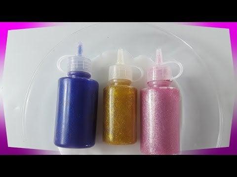 ZvmENV3vJc2ENCKAm FQLB1JRvfiNzt4JE2RvM LfAU - Mixing Glitter into GLOSSY Slime - hobbies, crafts