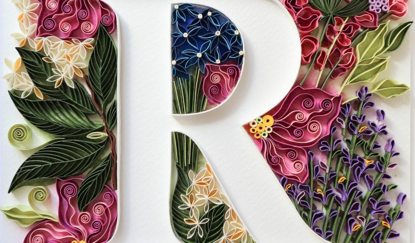 ii3ue3xxowd61 820x480 - A front view of the handmade Paper Quilling Typography art piece that I made towards the end of 2020. - hobbies, crafts