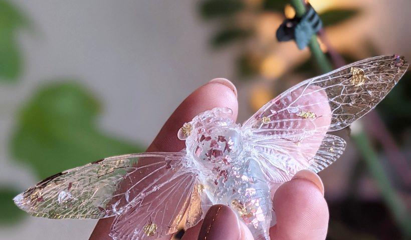 ja4av57jyy761 820x480 - Been trying to make resin cicadas and here's my first successful one - hobbies, crafts