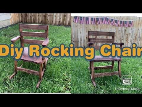 qIQ5qOIA7taoLYgB9HV6J7R J f 5MkB xpCJb9olGw - First time making a rocking chair. It's only a kid size but I made a video if you like to watch the build or give constructive criticism! - home, hobbies