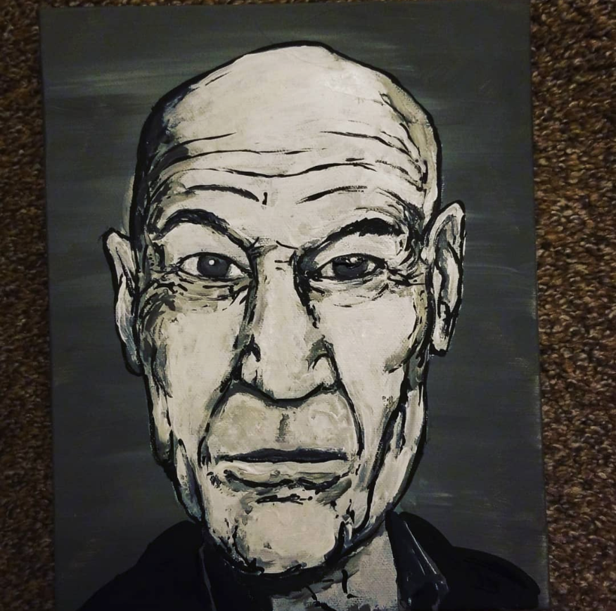 tiyseyhqz6b61 - This was a fun painting of Sir Patrick Stewart to work on .I find faces are very difficult to paint. - hobbies, crafts
