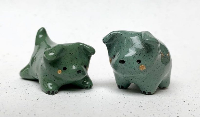 n9QpI3pUGKnE5Ra8zfSVxlJm9qybbE3SPv3InkbDarI 820x480 - I made some little green polymer puppies 🐾 - hobbies, crafts
