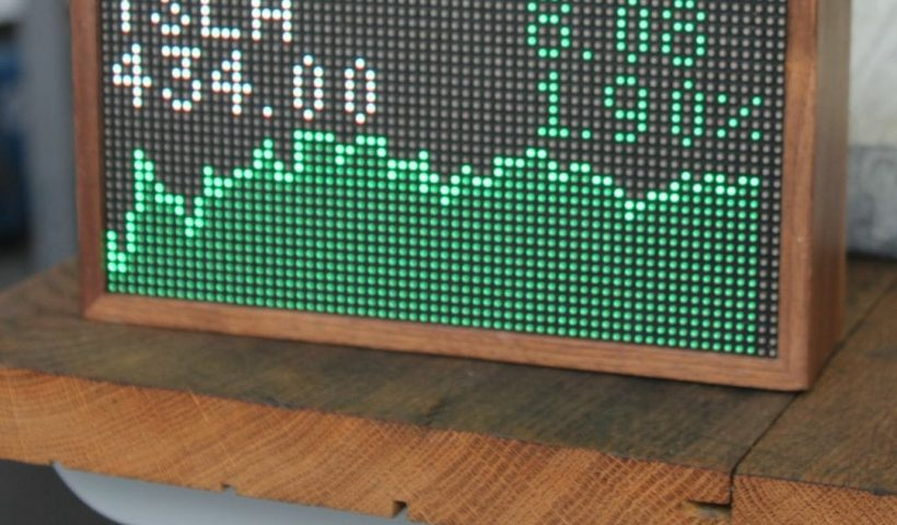 zlB VBnCNpBrFX4JffHv3Io9 lJ6KZO KHIZYiFbEsc 820x480 - I saw this neat stock price tracker ad and figured that it would be simple enough to do as a DIY project with a raspberry pi. Has anyone done anything like this or know of a good project to reference to make something similar? Thanks! - home, hobbies