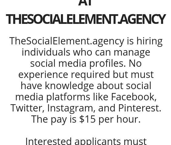 51af7bd1f607e2cd2aa7115d39b70867 564x480 - Work From Home As A Social Media Moderator At The Social Element Agency - work-from-home