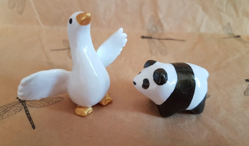 ncy84tubslm61 820x480 - A little goose and panda from polymer clay. I'm quite happy how they turned out! - hobbies, crafts