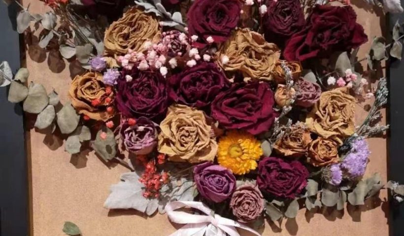 puj5ps7y2pm61 820x480 - Newly completed dried flower works - hobbies, crafts