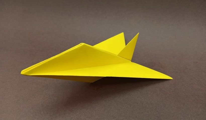 How to make a Cool Paper Jet Plane EASY 820x480 - How to make a Cool Paper Jet Plane / EASY origami airplane - uncategorized