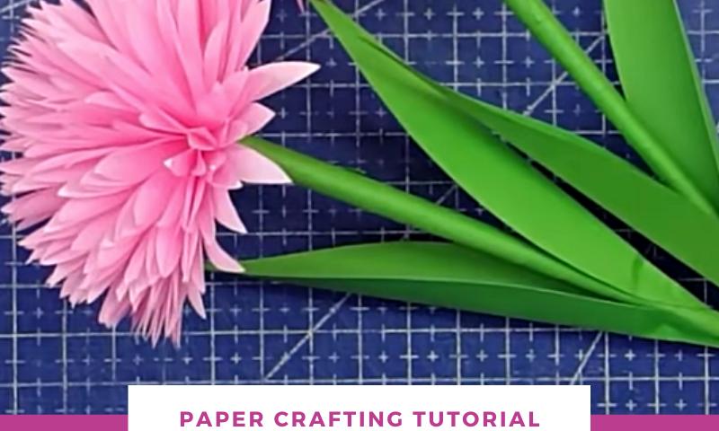 PAPERFLOWERTUTORIAL BLOG 800x480 - Easy DIY Handmade Paper Flowers   Paper Craft - uncategorized